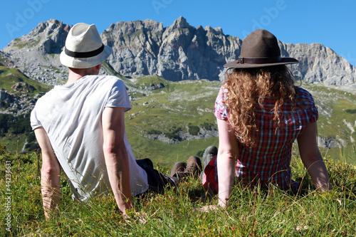 Entspannung während einer Wanderung