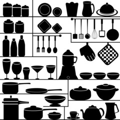 vector illustration of kitchen collection