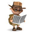 3d Adventurer reads the newspaper