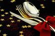 Christmas cutlery