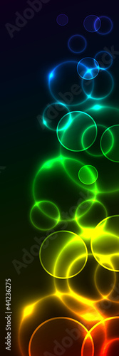 Background side element with colorful circles