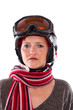Snowboard Helm mit Brille