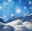 winter background with snow texture and mountains background