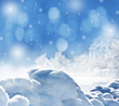 Winter Background With Snow Te...