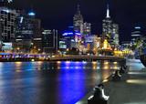 Fototapety Melbourne mit Skyline und Yarra River