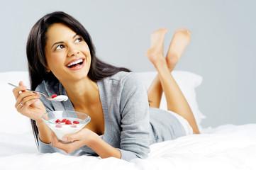 Breakfast snack woman
