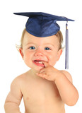 Happy baby boy graduate.