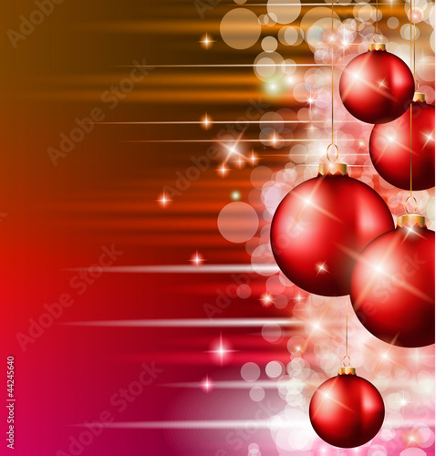 Christmas Background with a waterfall of ray lights