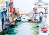 Fotoroleta Venedig - Aquarell II