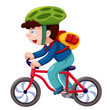 Boy on a bicycle vector