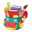 Back to school,school bag illustration