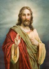 Kopia obrazu typowej katolickiej Jezusa Chrystusa