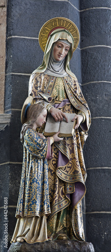 Gent -  Statue of holy Ann and Virgin Mary from Saint Jacob s