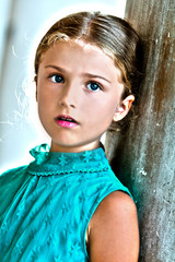 Portrait of lovely girl in Venice, Italy