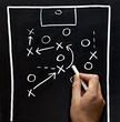 chalkboard classroom soccer tactics team sport coach
