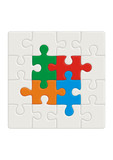 Colored puzzle pattern (removable pieces). Vector illustration