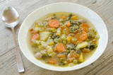 Minestra di ortaggi, vegetable soup