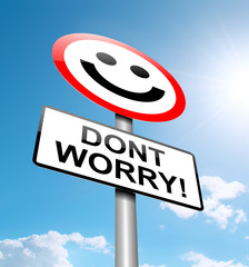 Dont worry concept.