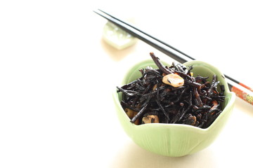 Japanese cuisine, simmered seaweed with soy bean
