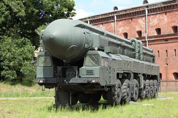 Russian  mobile l missile launcher Topol