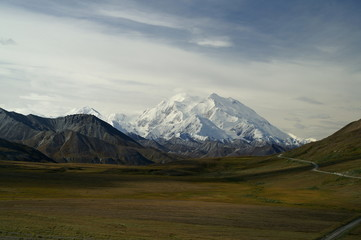 Mont Mc Kinley dans le parc Denali en Alaska