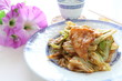 Chinese cuisine, cabbage and pork stir fried