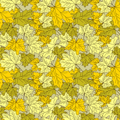 marble leaves seamless pattern