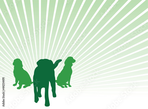 dog silhouette background