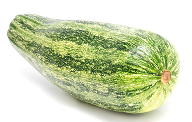 Green zucchini isolated on a white