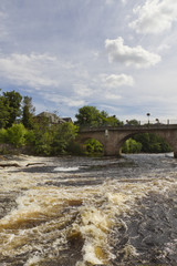 River Ericht flowing at Blairgowrie