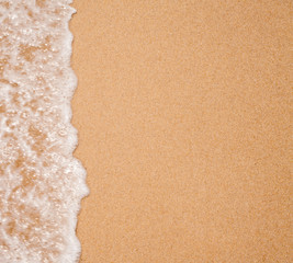 water surf edge on beach sand