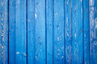 blaue Holzwand