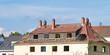 Beschädigtes Hausdach