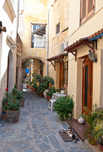 Traditional Greek street.
