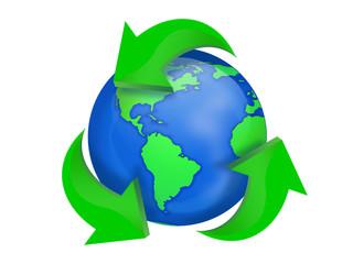 Planète Terre recycler