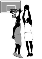 Springende Basketballspieler