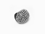 Clear crystal rhinestone diamond fashion ring poster