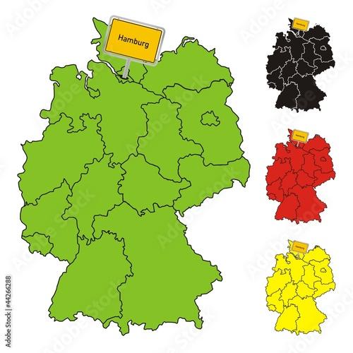 hamburg deutschland bundesland karte stockfotos und lizenzfreie vektoren auf. Black Bedroom Furniture Sets. Home Design Ideas