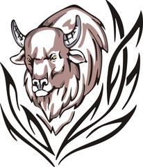 bison tattoo
