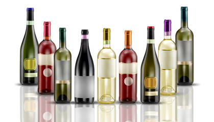 composizione vino varie bottiglie