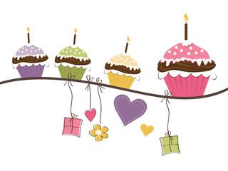 Muffins & Geschenke zum Geburtstag