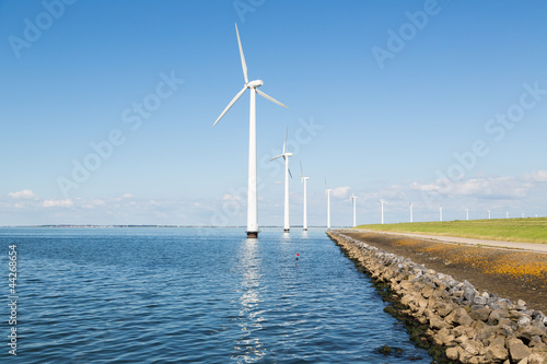 Windturbines along the Duitch coast
