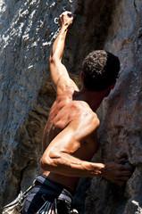 free climbing su calcare, Muzzerone, Liguria, Italia