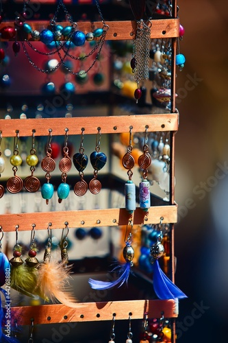 A collection of earrings