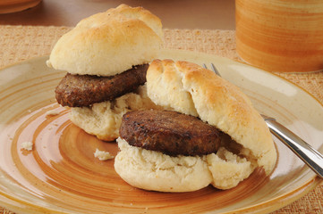 Sausage and biscuits
