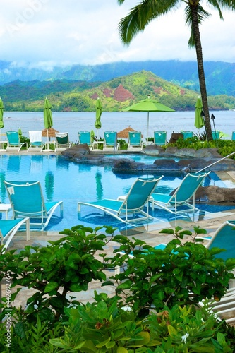 Resort Pool on the Island of Kauai