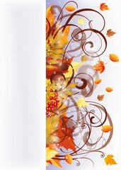 Autumn banner, vector illustration