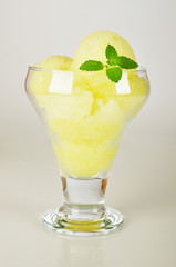 peach and melon sorbet