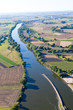 aerial view of Odra river near near Opole city