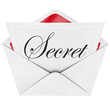 Secret Word on Letter Note Envelope Mystery Private Invitation